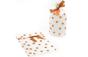 GIFT WRAPPING BAGS GOLD POLKA DOT 16x29cm